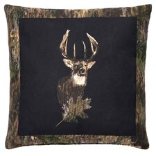 Camo Deer Cotton Throw Pillow