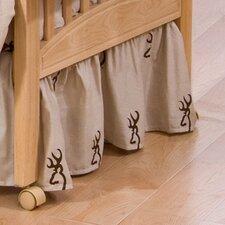 Buckmark Crib Skirt