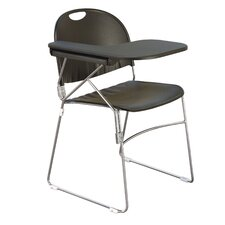 """18"""" Plastic Tablet Arm Chair (Set of 2)"""