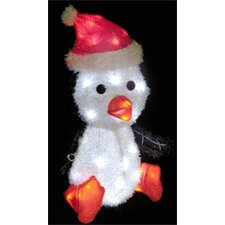 LED 3D Furry Penguin Christmas Decoration