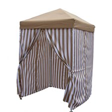 Pop-Up 5 Ft. W x 5 Ft. D Stripe  Pool Cabana Canopy