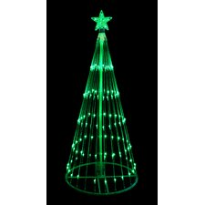4' Light Show Cone Christmas Tree Lighted Yard Art Decoration