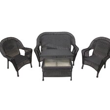 4 Piece Wicker Patio Furniture Set