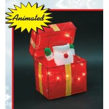 Animated Santa Gift Box Christmas Decoration