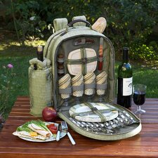 Hamptons Picnic Backpack with Four Place Settings