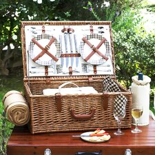 Dorset Basket for Four with Blanket in London