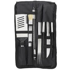 Nine Piece Stainless Barbecue Set