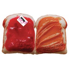 2 Piece Peanut Butter and Jelly Throw Pillow Set