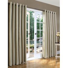 Weathermate Solid Cotton Grommet Top Curtain (Set of 2) (Set of 2)