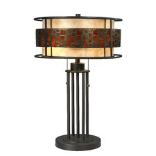 """Milan 22"""" H Table Lamp with Drum Shade"""