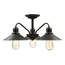Casa 3 Light Semi Flush Mount
