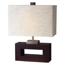 """Portable 19.5"""" H Table Lamp with Rectangular Shade"""