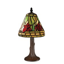 "Tiffany Billiard Mini Style 40 12"" H Table Lamp with Empire Shade"