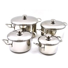 Rainbow Elite Professional Grade Stainless Steel 8-Piece Cookware Set