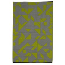 World Santa Cruz Lime/Gray Indoor/Outdoor Area Rug