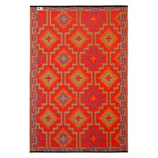 World Lhasa Orange Indoor/Outdoor Area Rug