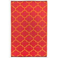 Tangier Orange Peel & Rouge Red World Indoor/Outdoor Area Rug