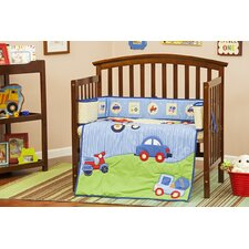 Travel Time Portable 3 Piece Crib Bedding Set