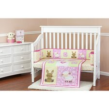 Naptime Friends Portable 3 Piece Crib Bedding Set