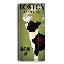 Boston Terrier Coffee Wall Décor