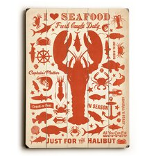 I Love Seafood Wall Décor