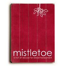 Mistletoe Red Wall Décor