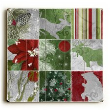 Christmas Animals Wrapping Graphic Art