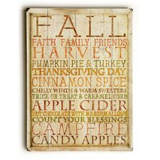 Fall Harvest Apple Cider Wooden Wall Décor