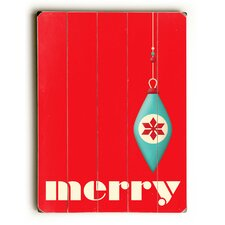 Merry Red Ornament Wooden Wall Décor