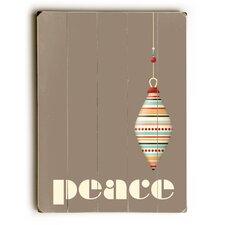 Peace Ornament Grey Wooden Wall Décor