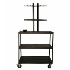Flat Panel AV Cart with 4 Outlets