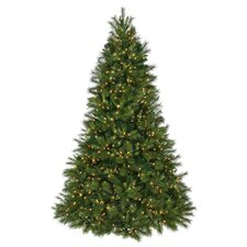 7.5' Dual Deluxe Belgium Mix Artificial Christmas Tree with Lit Lights with Stand
