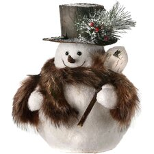 Snowman with Fur Scarf