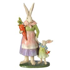 Resin Sugar Mom and Daughter Bunny