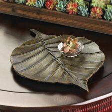 Rustic Ranch Avery Leaf Decorative Tray