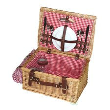 Picnic Suitcase Basket with Accessories