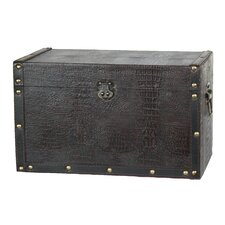 Decorative Leather Wooden Trunk
