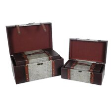 Reserved Leather Trunk (4 Piece Set)