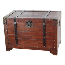 Old Fashioned Wood Storage Trunk