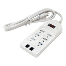 6 Outlet Surge Protector with Telecom Protection