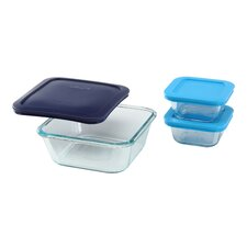 Storage Plus 3 Piece Square Storage Set
