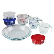 Pyrex 10 Piece Glass Prep, Bake & Store Set