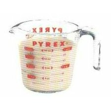 Pyrex Prepware 2 Cup Measuring Cup with Red Graphics
