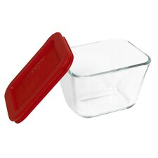 Storage Plus 1.87 Cup Rectangular Storage Dish with Lid (Set of 2)