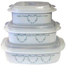 Livingware Memphis 6 Piece Microwave Cookware & Storage Set IV