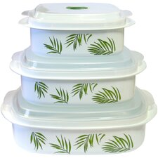 Bamboo Leaf 6 Piece Microwave Cookware & Storage Set