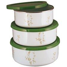 Corelle Coordinates 3 Piece Storage Bowl Set in Green