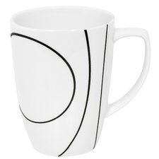 Simple Lines 12 oz. Mug (Set of 4)