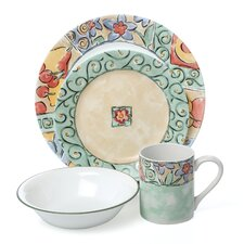 Impressions Watercolors 16 Piece Dinnerware Set
