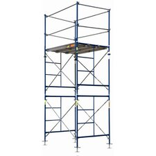 SaferStack 10' H x 60'' W x 84'' D Steel Contractor Series Fixed Tower Scaffolding